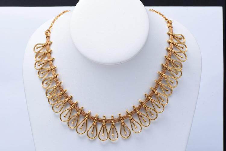 22K Yellow Gold Necklace.