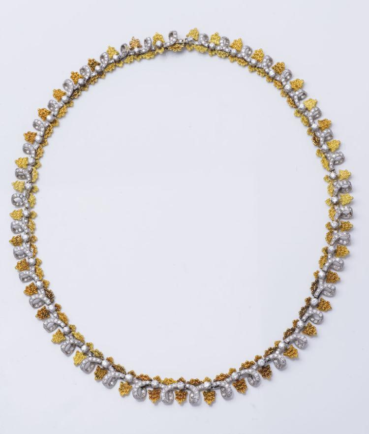Buccellati WG & YG Diamond Necklace.