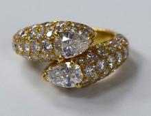 Cartier Paris Bypass Diamond Ring