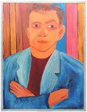 PORTRAIT OF A MAN BY LENNIE KESL (AMERICAN, 1926-2012).