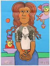 PORTRAIT BY LENNIE KESL (AMERICAN, 1926-2012).