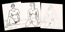 COLLECTION OF DRAWINGS BY LENNIE KESL (AMERICAN, 1926-2012).