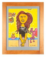 PORTRAIT BY LENNIE KESL (AMERICAN, 1926-2012)