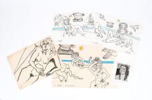ORIGINAL ARTWORK BY LENNIE KESL (AMERICAN, 1926-2012)