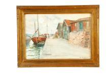 DOCKSIDE BY ANNA GARDELL-ERICSON (SWEDISH, 1843-1939).