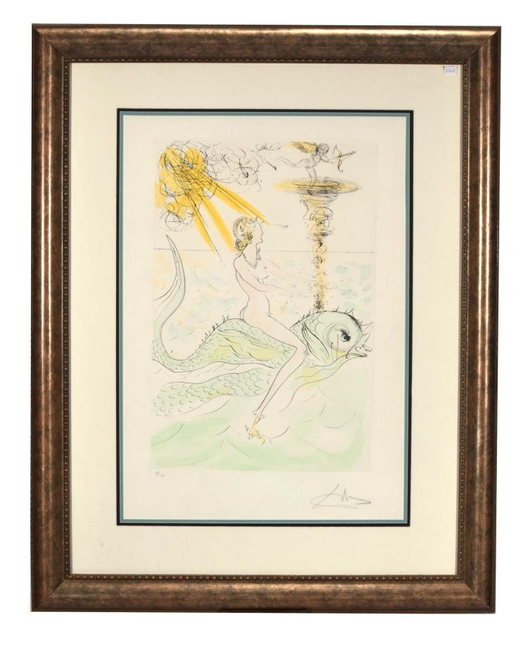 Lot - Salvador Dali, (1904 - 1989 Spanish), Nude with arm