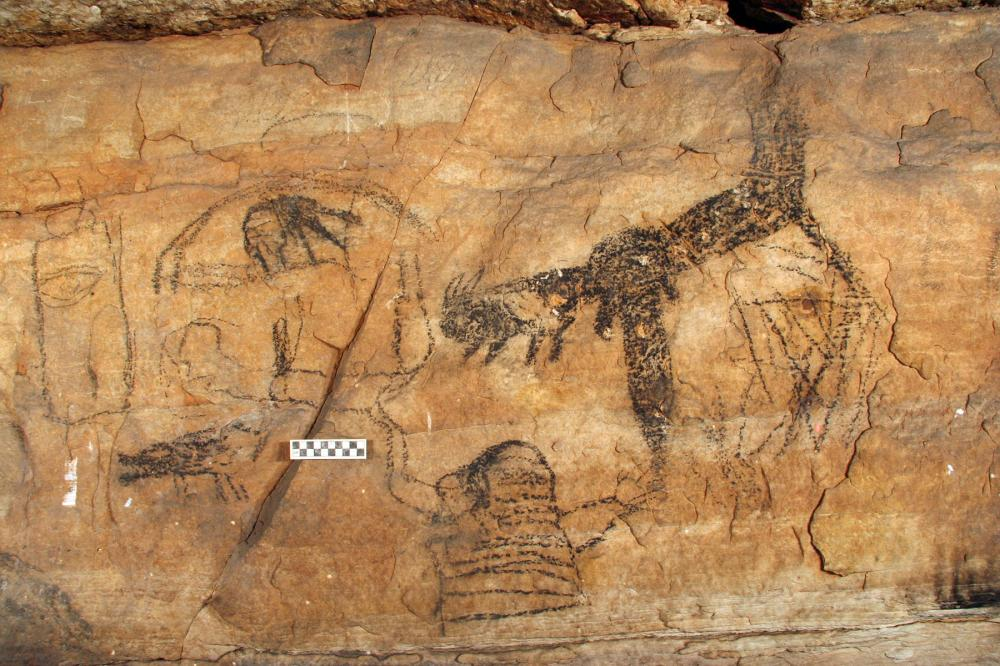 PICTURE CAVE: A TWO-CAVE SYSTEM OF NATIVE AMERICAN POLYCHROME PAINTINGS AND 43 ACRES OF SURROUNDING LAND
