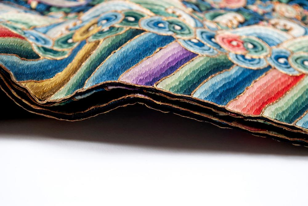 FINELY SILK EMBROIDERED CHINESE COURT GARMENT