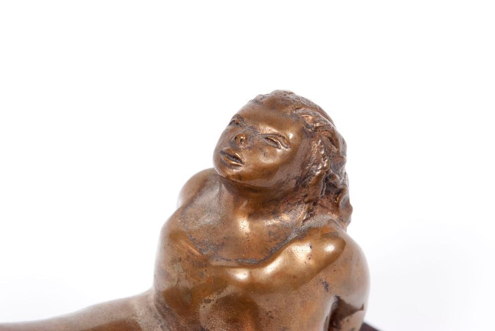 JEAN DOYLE (SOUTH AFRICAN, B. 1930) MINIATURE BRONZE FEMALE FIGURE
