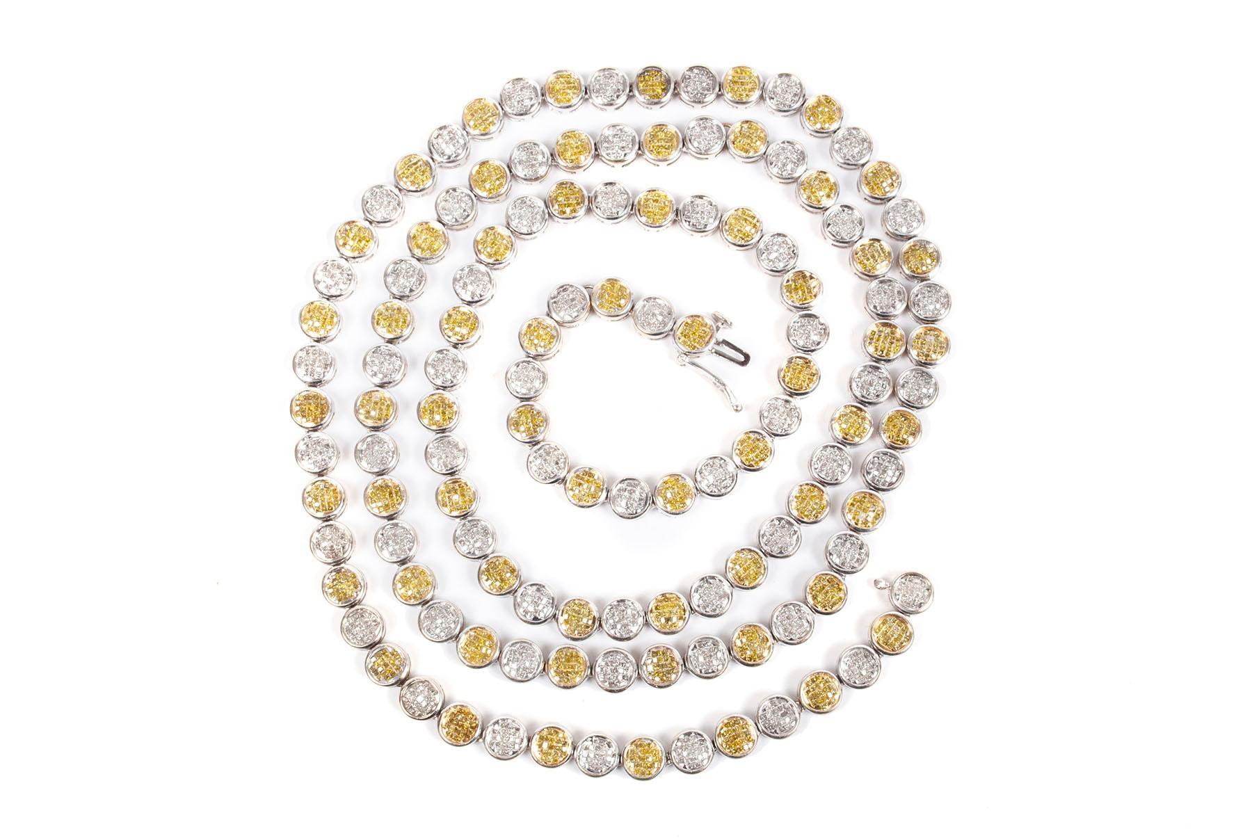 A 21 CARAT DIAMOND NECKLACE