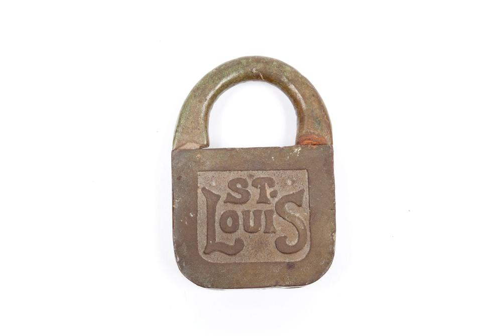 TWO ST. LOUIS LOUISIANA PURCHASE COLLECTOR'S PADLOCKS
