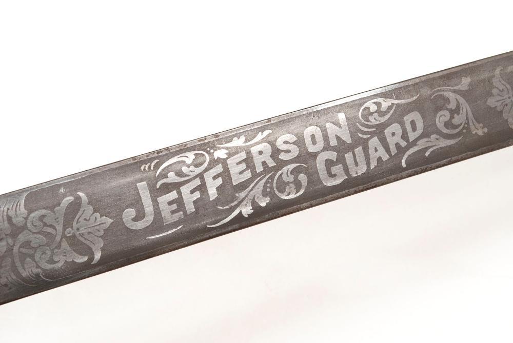 LOUISIANA PURCHASE EXPOSITION JEFFERSON GUARD SHORT SWORD & SCABBARD