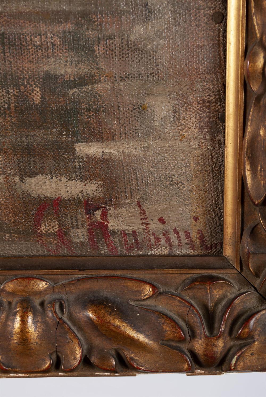 VENETIAN OIL PAINTING SIGNED RUBINI (ITALIAN SCHOOL, 19TH CENTURY)