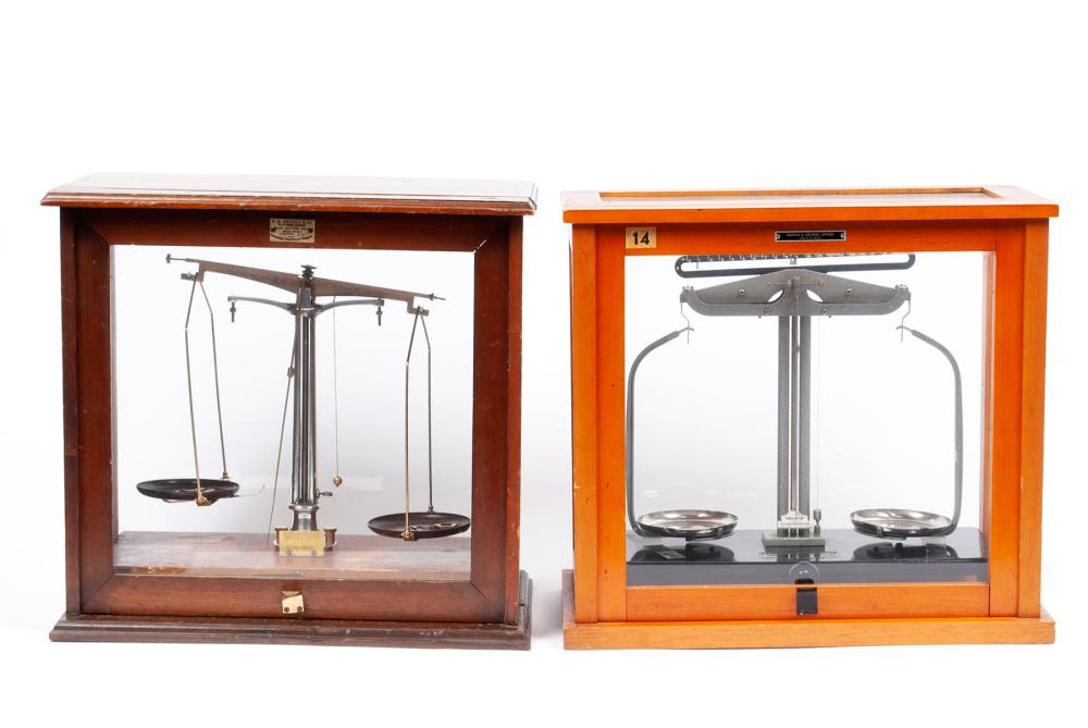 TWO PHARMACY SCALES