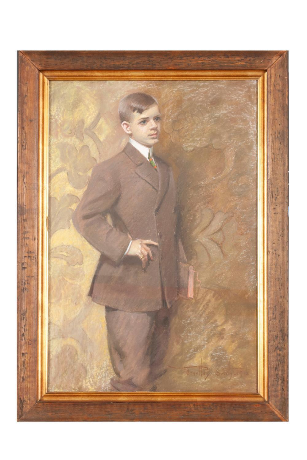 PORTRAIT OF GEORGE WILLARD COBB BY BRANTLEY SMITH (AMERICAN, 19TH/20TH CENTURY)