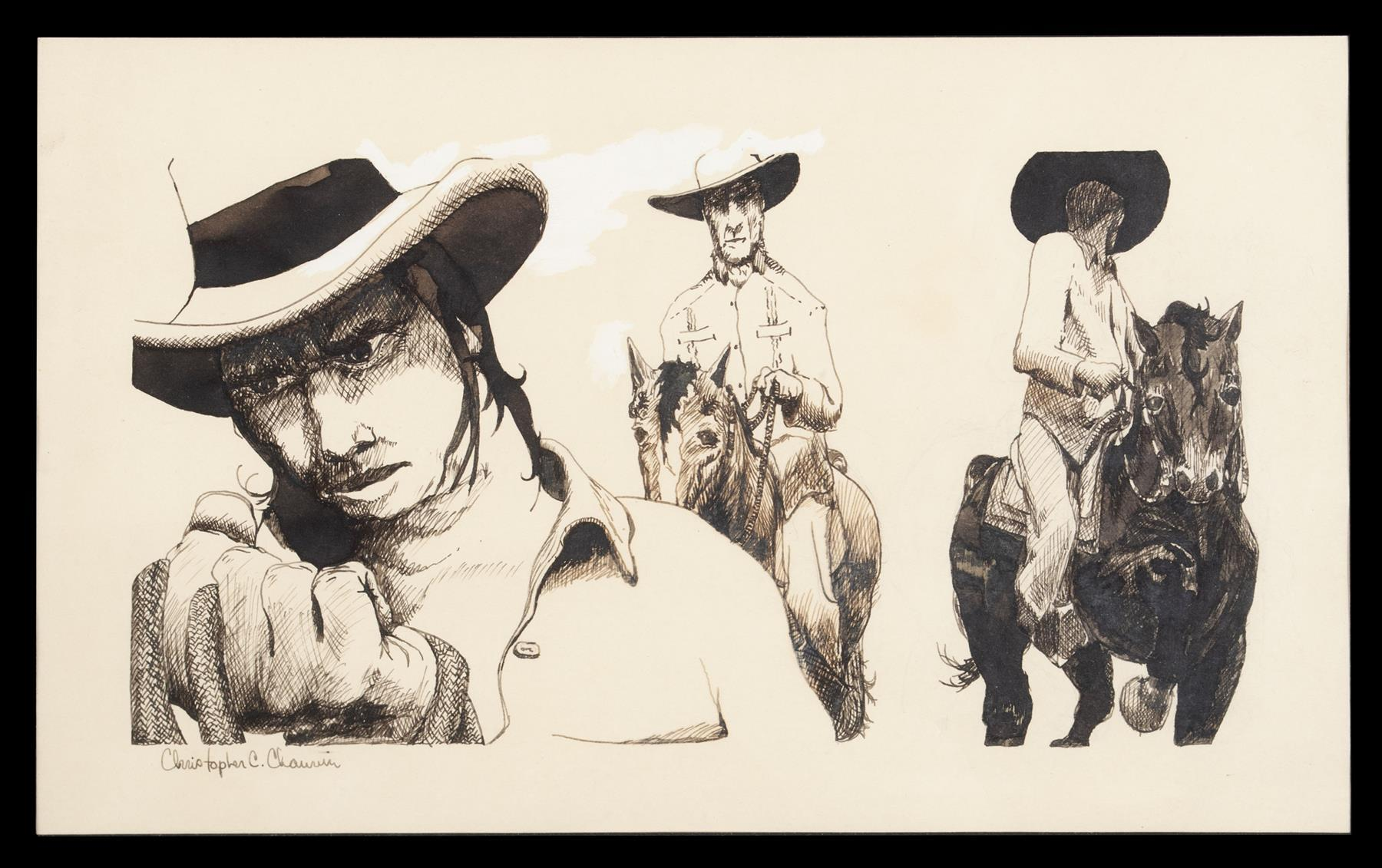 INK DRAWING BY CHRISTOPHER C. CHAUVIN