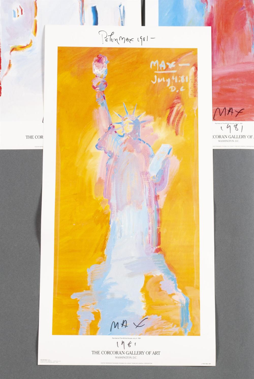 PETER MAX SET OF SIX STATUE OF LIBERTY POSTERS