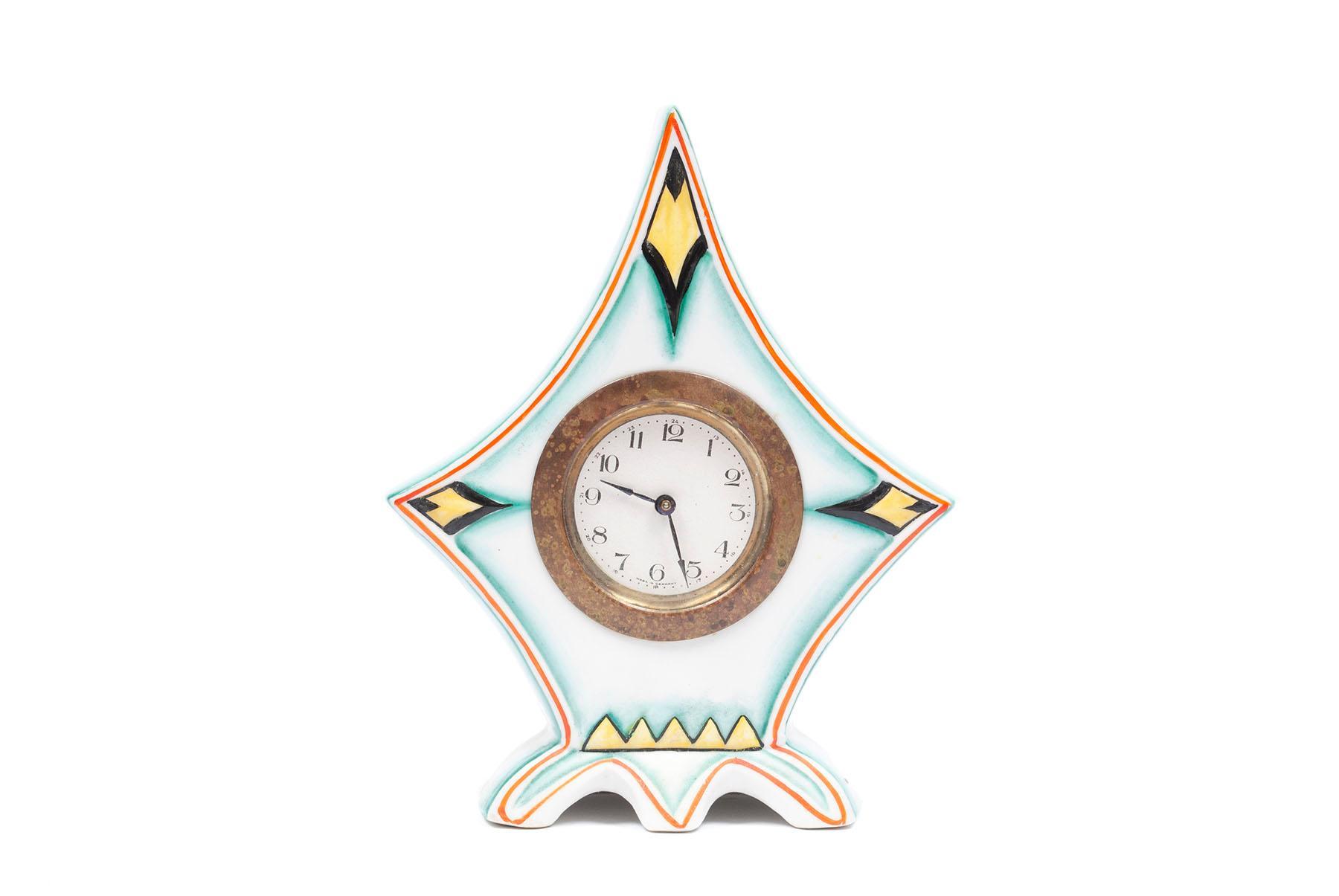 GERMAN ART DECO PORCELAIN CLOCK