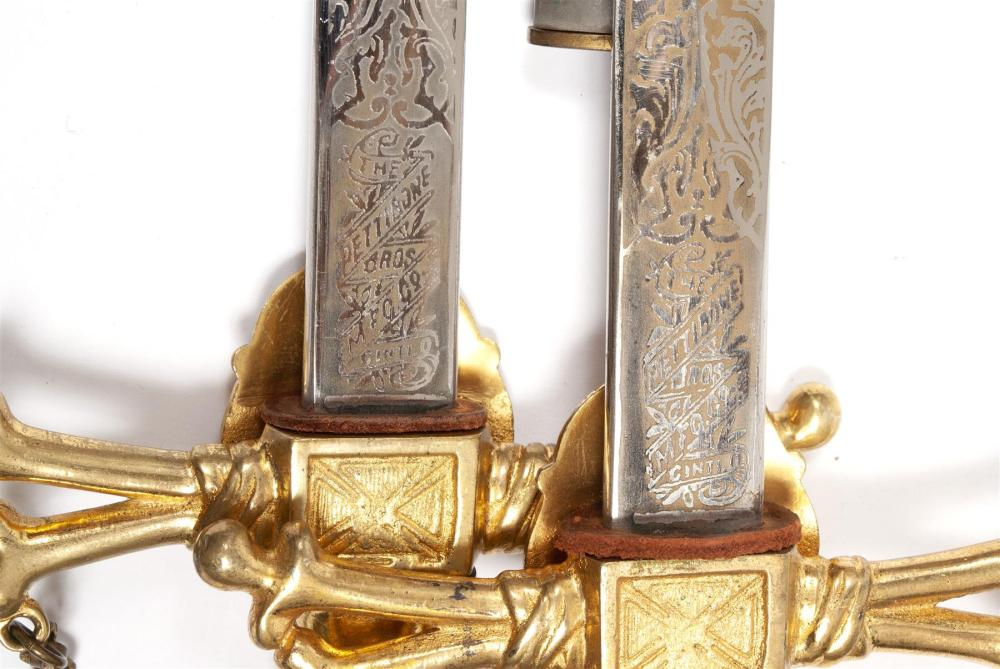 TWO 32ND DEGREE MASONIC SWORDS & SHEATHS