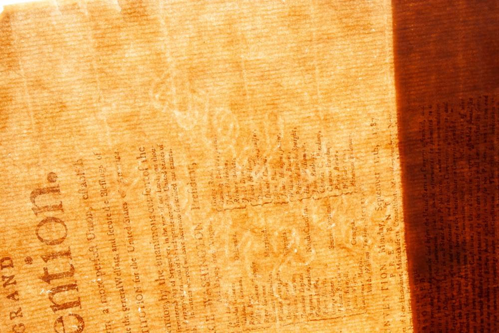 18TH CENTURY NEWSPAPER REGARDING THE CONSTITUTION