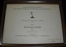 Archive Paulene Meyers Personal Awards