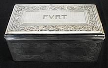 Vtg English Sterling Cigarette Box