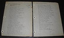 Langston Hughes Signed Poem