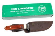 Hen & Rooster Knife w/ Sheath New in Box