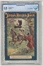 CGC & CBCS Graded Comic Books Featuring Platinum Age Spring Heeled Jack #1-#10