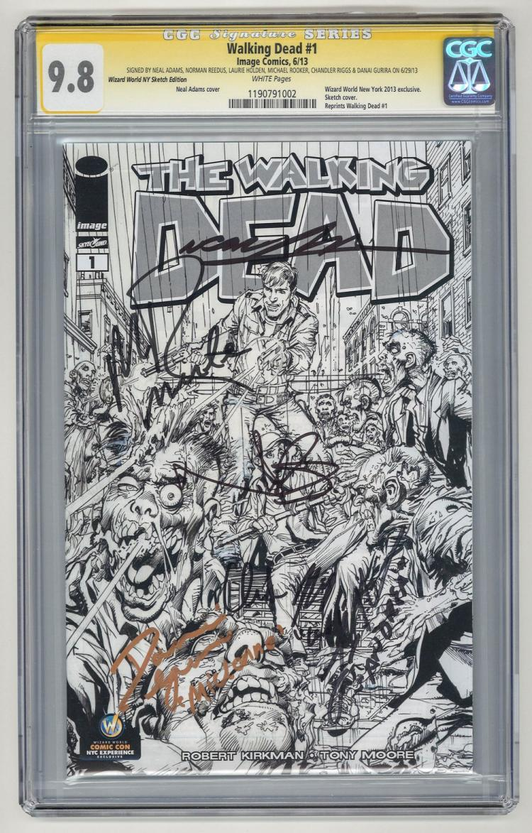 SIGNED CGC 9.8 Walking Dead #1 2013