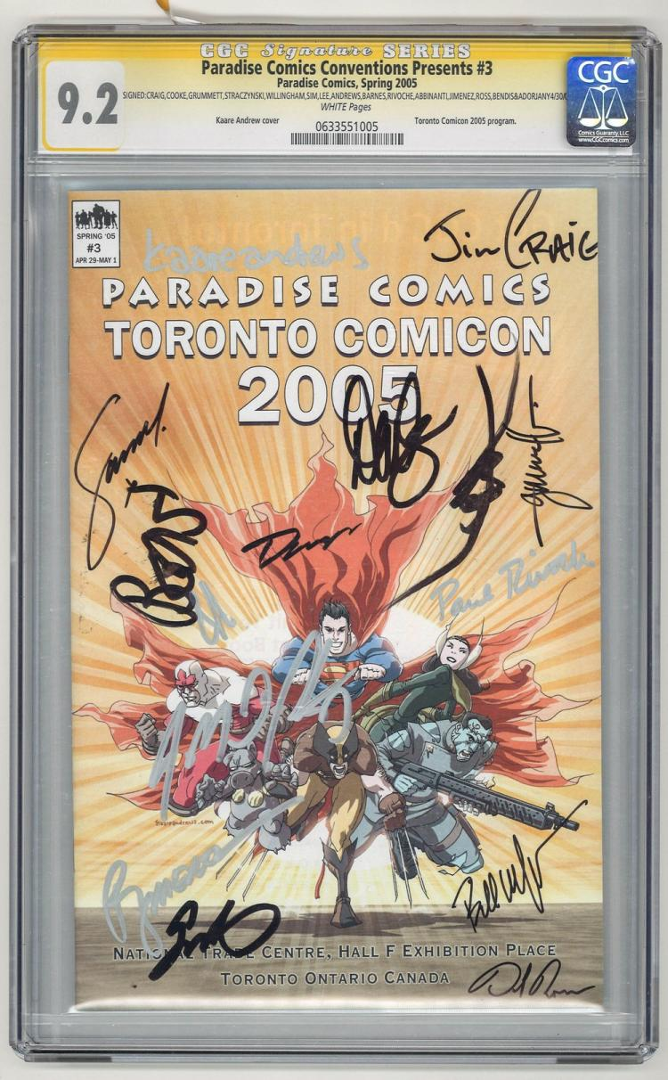 SIGNED CGC 9.2 Paradise Comics Conventions #3 2005
