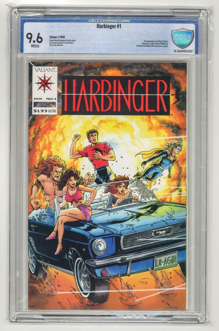 CBCS 9.6 Harbinger #1 1992