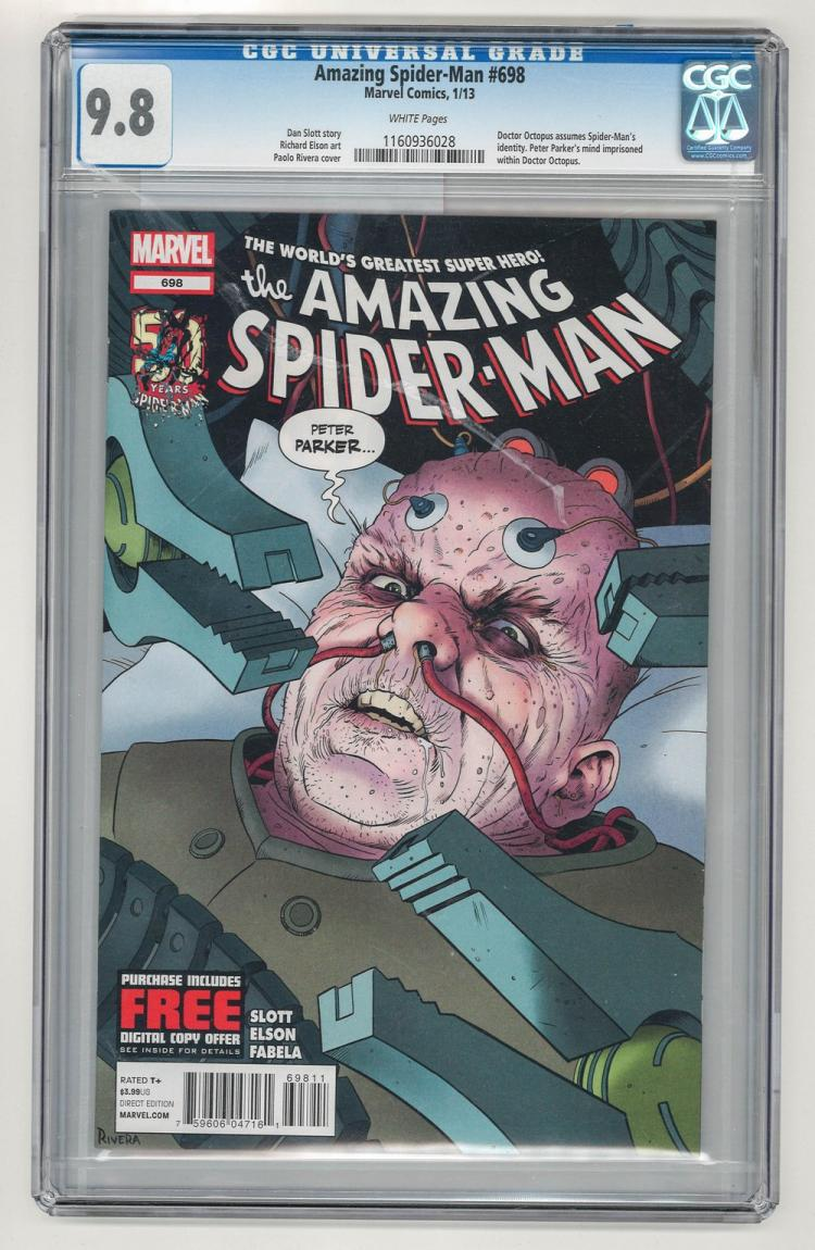 CGC 9.8 Amazing Spider-Man #698 2013