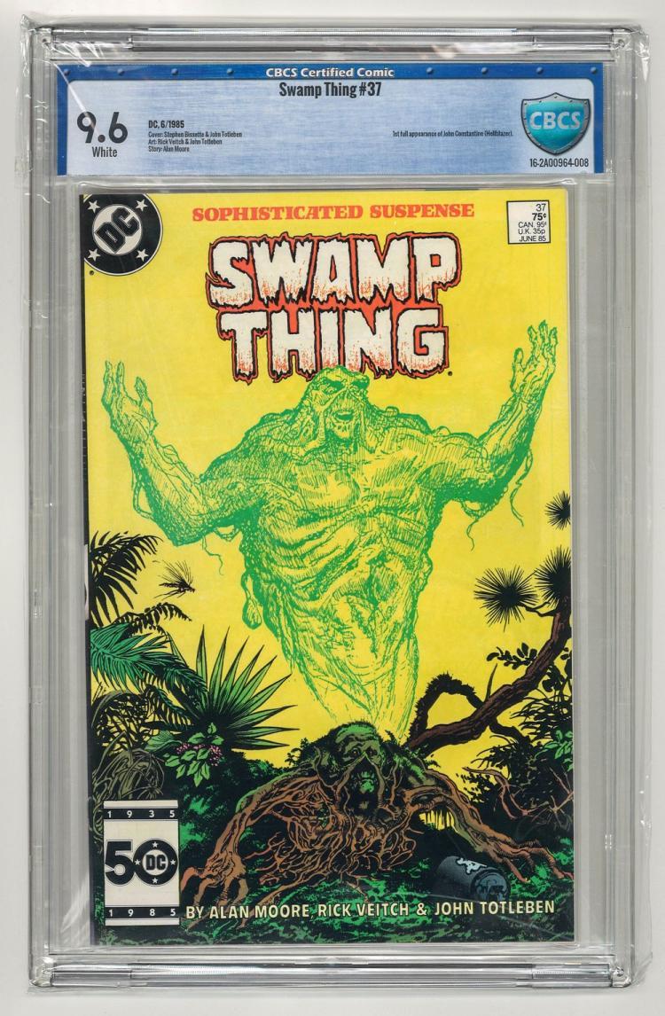 CBCS 9.6 Swamp Thing #37 1985