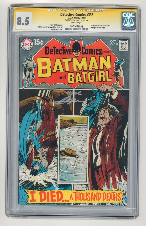 SIGNED CGC 8.5 Detective Comics #392 1969