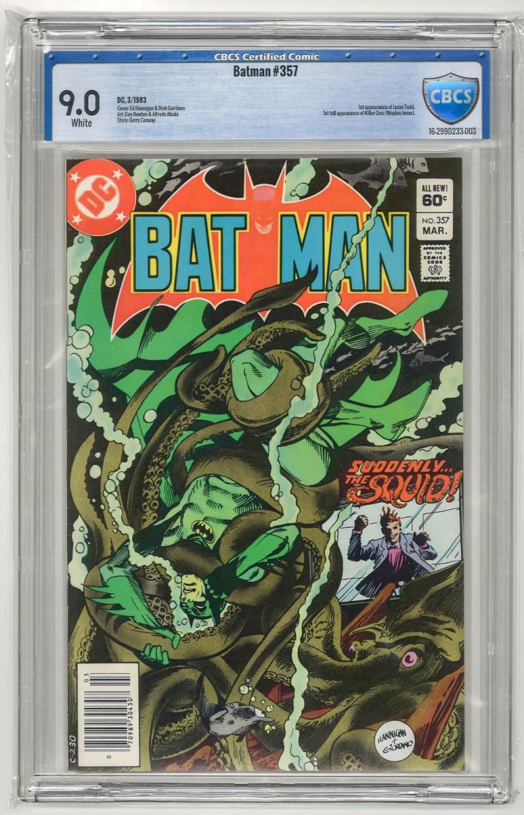 CBCS 9.0 Batman #357 1983