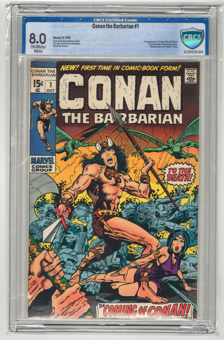 CBCS 8.0 Conan the Barbarian #1 1970