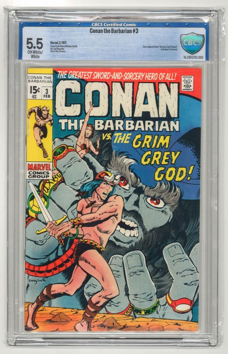 CBCS 5.5 Conan the Barbarian #3 1971