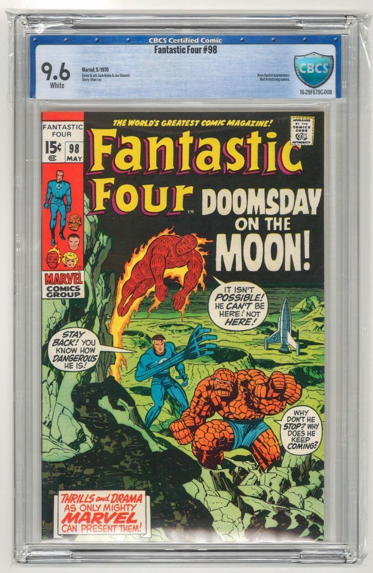 CBCS 9.6 Fantastic Four #98 1970