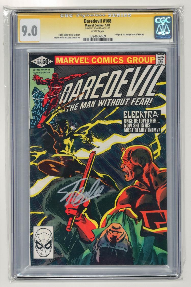 SIGNED CGC 9.0 Daredevil #168 1981