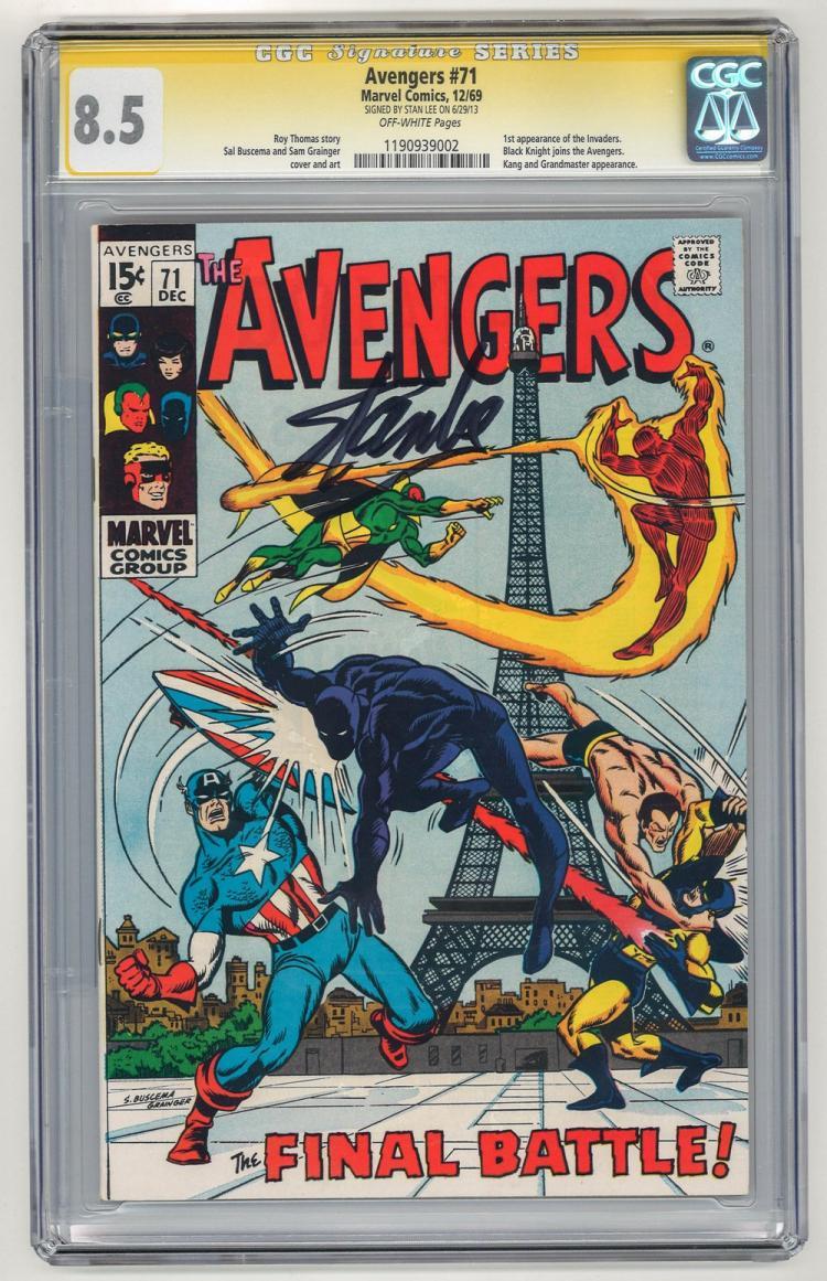 SIGNED CGC 8.5 Avengers #71 1969
