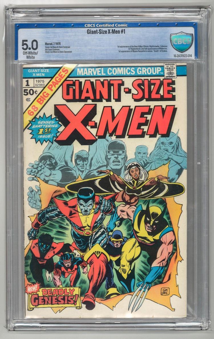 CBCS 5.0 Giant-Size X-Men #1 1975