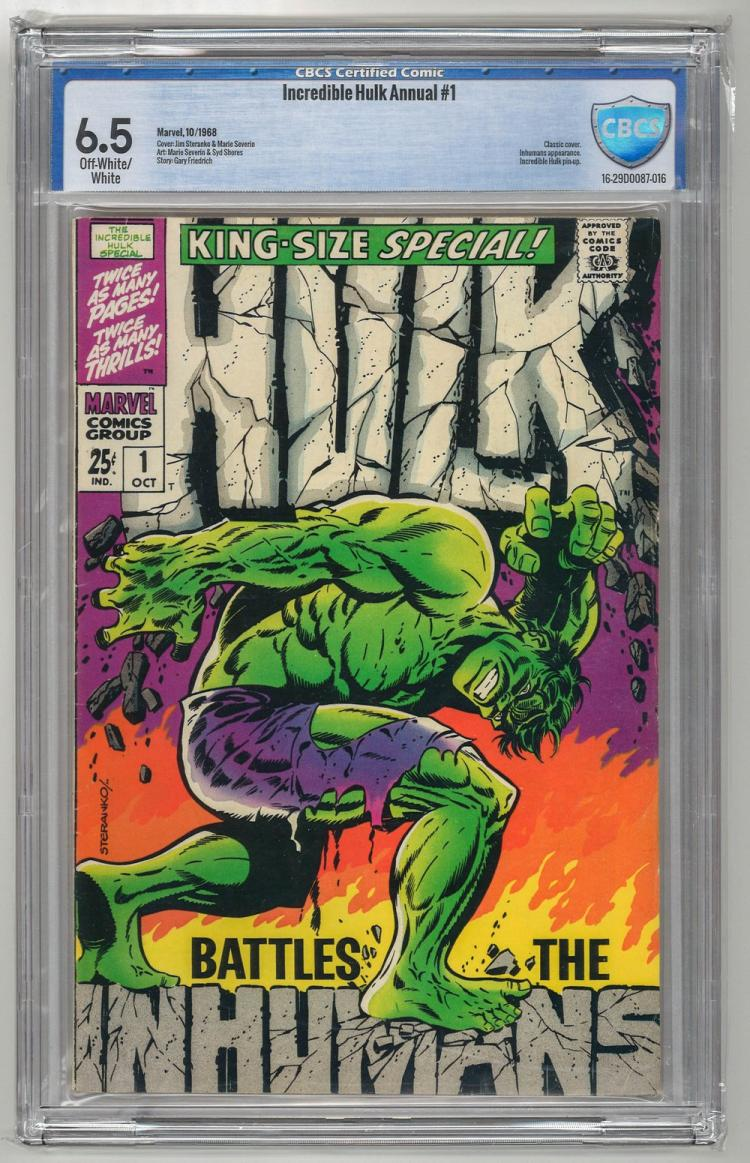 CBCS 6.5 Incredible Hulk Annual #1 1968