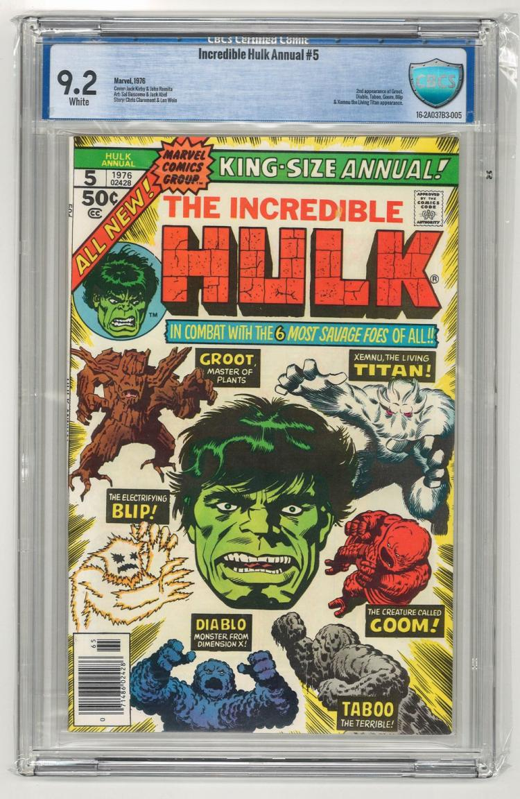 CBCS 9.2 Incredible Hulk Annual #5 1976