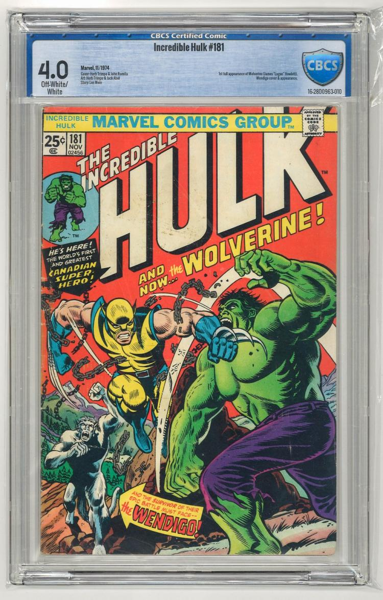 CBCS 4.0 Incredible Hulk #181 1974