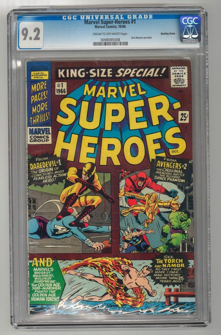 CGC 9.2 Marvel Super-Heroes #1 1966