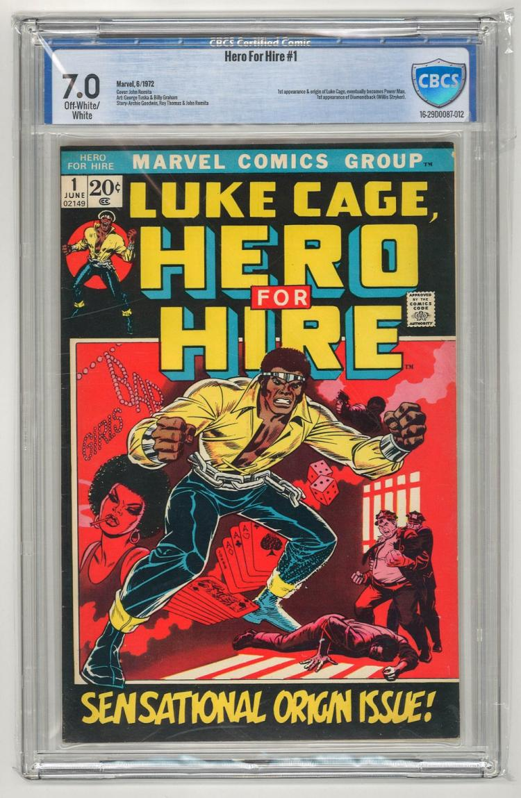 CBCS 7.0 Hero for Hire #1 1972