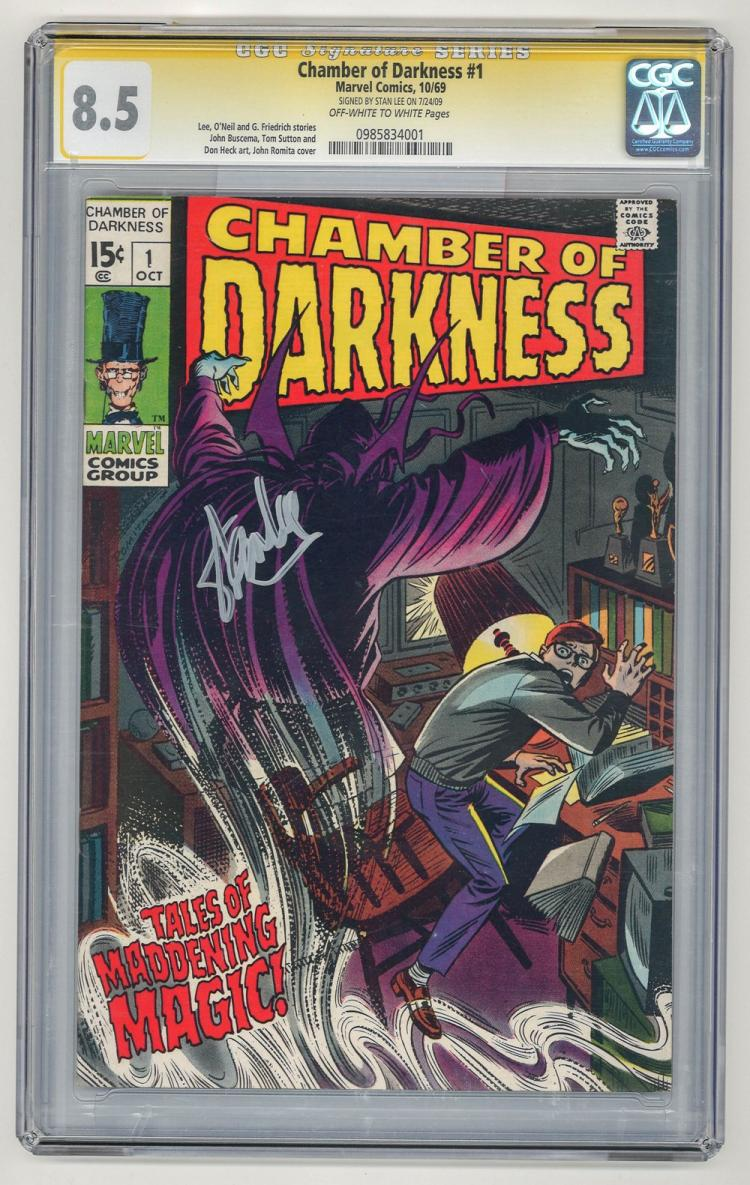 SIGNED CGC 8.5 Chamber of Darkness #1 1969
