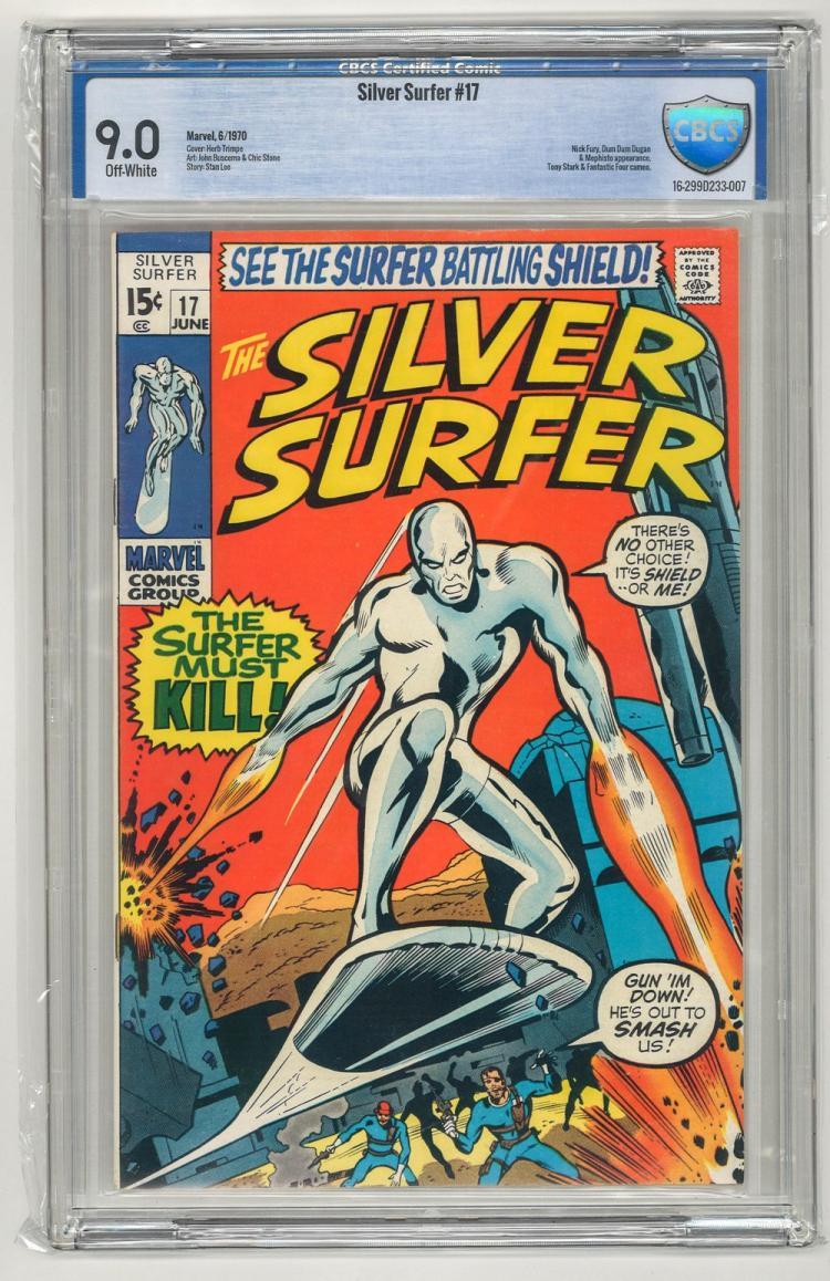 CBCS 9.0 Silver Surfer #17 1970