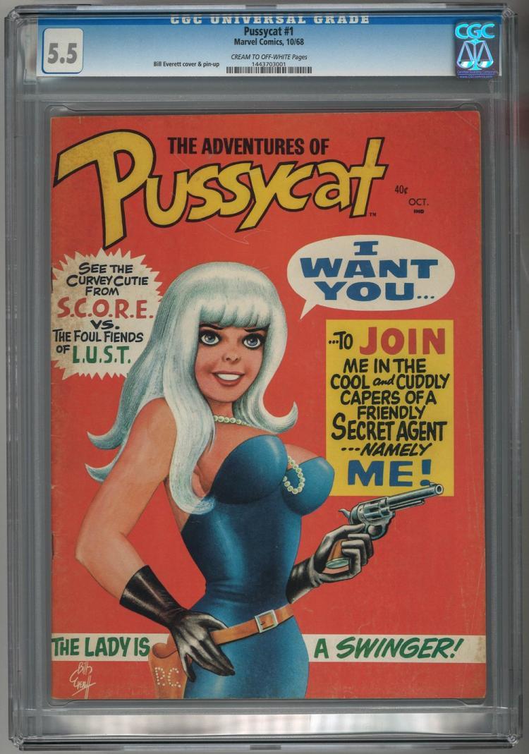 CGC 5.5 Pussycat #1 1968